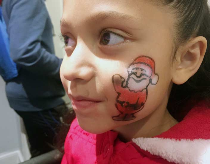 Big Grins Airbrush Face Painting Santa
