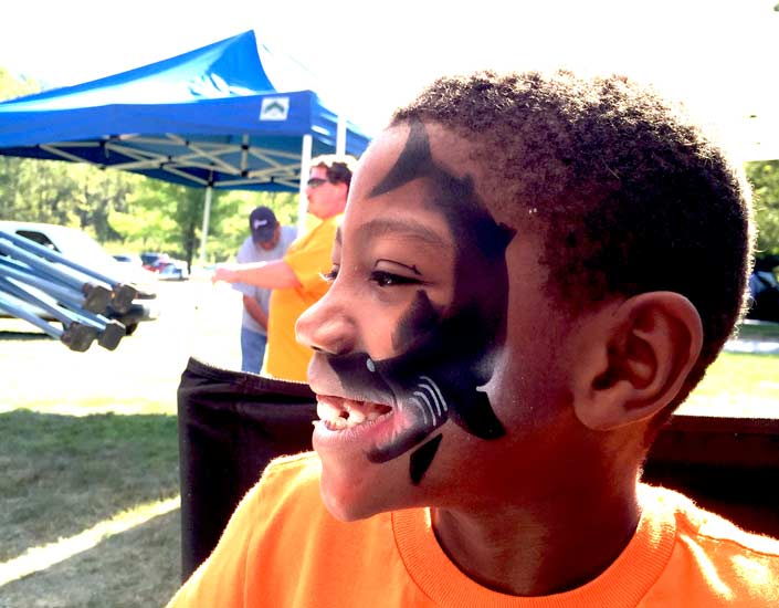 Big Grins Airbrush Face Painting Shark