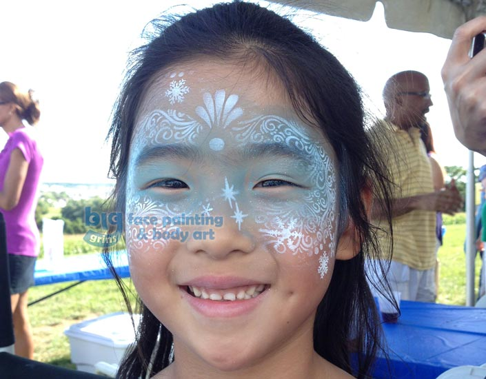 Big Grins Airbrush Face Painting Winter Princess Frozen Face