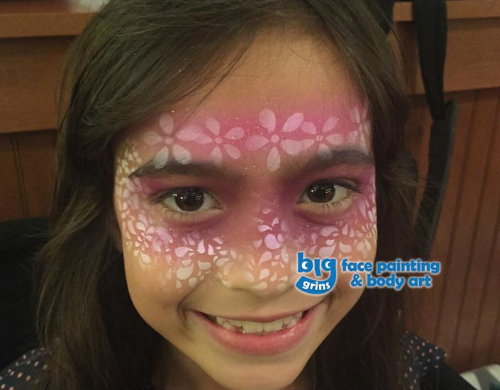 Big Grins Airbrush Face Painting Floral Design